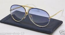 PORSCHE DESIGN P8478 Gold Blue Aviator Sunglasses New Never Been Worn
