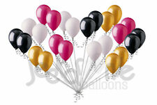 24pc Contemporary Black Gold Rose White Latex Balloons Party Decoration Birthday