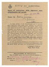 DOC. CITTA' DI ALBENGA LAVORI DI COSTRUZIONE DELLA FOGNATURA NERA 1944 5-33BIS