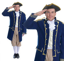 Mens Admiral Horatio Lord Nelson Battle Of Trafalgar Fancy Dress Costume Outfit