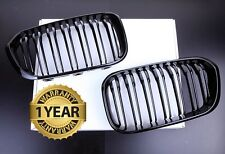 NEW GLOSS BLACK TWIN SLAT FRONT KIDNEY GRILLS BMW F20 F21 LCI 1 SERIES M LOOK