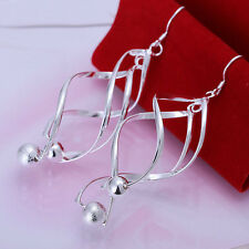 XMAS wholesale sterling solid silver with ball earring YE512 + box
