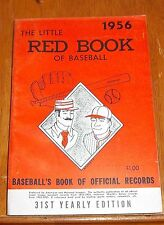 The Little Red Book of Baseball 1956   Baseball's Book of Official Records