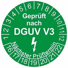 1000x 30mm Prüfplaketten Prüfsiegel Prüfetiketten DGUV V3 Prüfungen Fluke Gossen