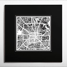 PAPER CUT MAP Houston matted Original Design IDEAL GIFTS 20 20In.
