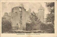 Teplitz-Schönau, Schloßruine auf dem Schloßberg, alte Ansichtskarte von 1927