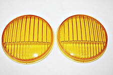 PORSCHE 911 912 MERCEDES BENZ SET YELLOW HORN GRILL FOG LIGHT LENSES HELLA 51764