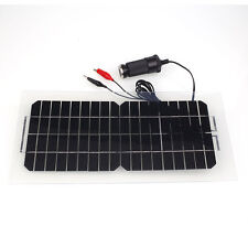 18V 5.5W Flexible Smart Solar Panel Car RV Boat Battery Bank Charger with Cable