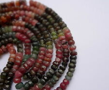"4-4.5mm Tiny Faceted Tourmaline Rondelle Colorful Gemstone Beads - 12.5"" Strand"