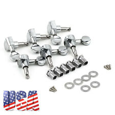 6 Chrome Guitar String Tuning Pegs Tuners Machine Heads Acoustic Electric NEW EP