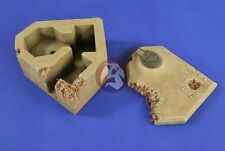 Verlinden 1/35 Bombed / Battle Damaged German Bunker w/Panzer I Turret WWII 2674