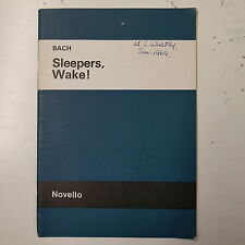 vocal score BACH sleepers wake , novello , english