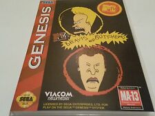 Beavis and Butt-Head High Quality Custom Collector Sega Genesis Case Only