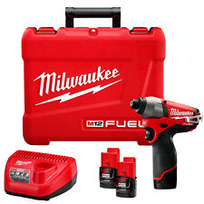 Milwaukee 2453-22 M12 FUEL 12-Volt 1/4-Inch Hex Impact Driver w/ Batteries