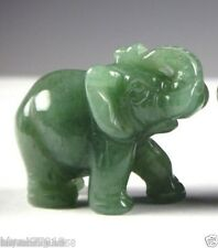 1P Green Aventurine Jade Stone Craving Lucky elephant Feng Shui statue