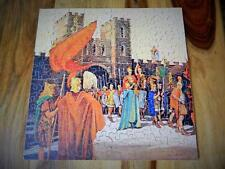 VINTAGE 1933 BOXED G.W.R CHAD VALLEY WOODEN JIGSAW PUZZLE THE ROMANS AT CAERLEON