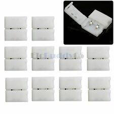 10pcs 10mm 2 Pin Solderless Connector Clip End for SMD 5630 5050 LED Strip Light