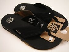 REEF MENS SANDALS FANNING BLACK SILVER SIZE 12