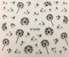 Nail Art 3D Decal Stickers Dandelion Flowers E400
