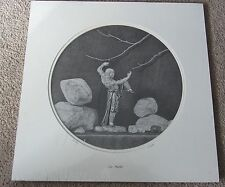 """Kung FU - THE MASTER - by FRANCIS L SCOTT pencil drawings 12"""" diameter"""