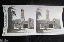 STA584 Algérie Biskra Mosquée Tiliache Photo Stereo stereoview Afrique du Nord