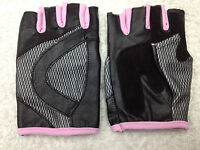 UNISEX PINK BICYCLE LEATHER PADDED CYCLING GLOVES BICYCLE BIKE CYCLE GYM FITNESS