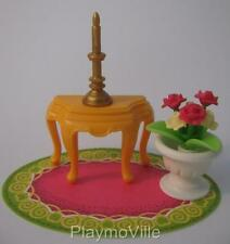 Playmobil Side table, rug & pot plant New palace/Victorian dollhouse furniture