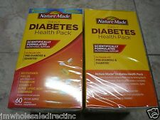 2 x 60Pk Nature Made Diabetes Health Pk Multivitamin Fish Oil with Vitamin D3