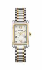 Bulova Women's 98P144 Diamond Collection Gold and Silver Tone Watch
