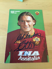 Autografo Originale FRANCESCO TOTTI-AS Roma-00/01-CARTOLINA ufficiale!