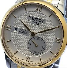 NEW MENS TISSOT LE LOCLE 2-TONE 25 JEWEL AUTOMATIC SAPPHIRE T006.428.22.038.00