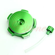 Dirt Pit Bike ATV Quad Motorcycle Aluminium Petrol Gass Fuel Tank Cap Green New