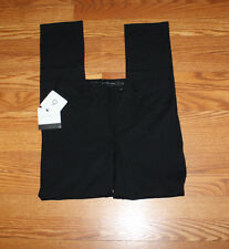 NWT Womens CALVIN KLEIN JEANS Black Knit Stretch Ponte Pants Sz 6
