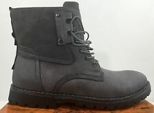 Giraldi Oliver Gray Lace Up High Top Combat Style Lined Boots Size 12