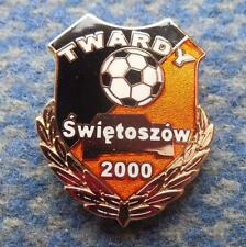 TWARDY SWIETOSZOW FUSSBALL FOOTBALL SOCCER GOLD VERSION ENAMEL PIN BADGE