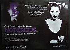 NOTORIOUS BFI RELEASE QUAD POSTER ALFRED HITCHCOCK INGRID BERGMAN CARY GRANT