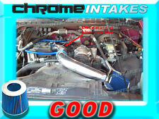 """BLUE 98-03 CHEVY S10 S-10 ZR2/XTREME/HOMBRE/SONOMA 2.2 2.2L COLD AIR INTAKE 3"""""""