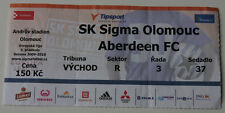 old TICKET EL Sigma Olomouc Czech Republic - Aberdeen FC Scotland