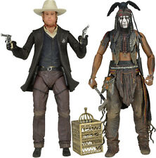 """THE LONE RANGER - 7"""" Series 2 Action Figure Set (2) by NECA #NEW"""