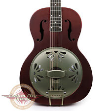 Brand New Gretsch G9202 Honey Dipper Special Round-Neck Resonator Oxblood Demo