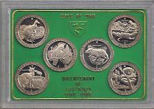 IOM Isle of Man Manx 1988 6 Crowns Bicentenary of Australia cased