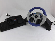 Mad Catz MC2 Universal Steering Wheel Pedals PlayStation PS1 PS2