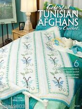Crochet Pattern Book COLORFUL TUNISIAN AFGHANS ~ 6 Designs