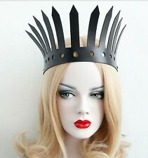 Crown Tiara Wedding Bridal Punk Gothic Emo Big Evil Queen Cosplay Rock Headband