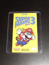 Super Mario Bros 3 Nes Cartridge Replacement Game Label Sticker Precut