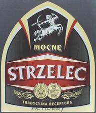Poland Brewery Jędrzejów Strzelec Beer Label Bieretikett Centaur Horse je80.2
