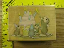 Rubber Stamp House Mouse Mice Cream Celebration Stampinsisters #1364