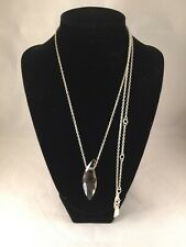 New Swarvoski CRYSTAL LIZED Twisted Lily Pendant Necklace Satin Silver Plated