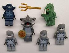6 LEGO ATLANTIS MINIFIGS LOT Barracuda Guardian Hammerhead Manta Shark Warrior