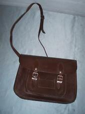 SUPERB BROWN SMALL CHILDRENS LEATHER SCHOOL SATCHEL. (MINI)
